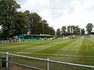 Hitchin - Top Field, the home ground of Hitchin Town F.C.