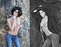 Topless brunette in jeans.jpg