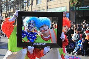 Toronto Santa Claus Parade - Image: Toronto Christmas Parade Celebrity Clowns