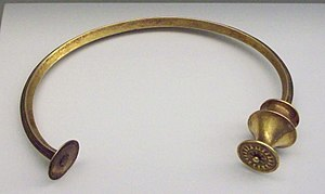 Astures - Gallaecian-Asturian gold torc (4th to 2nd century BC)