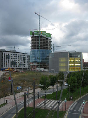 Iberdrola Tower - Construction status in mid September 2009.