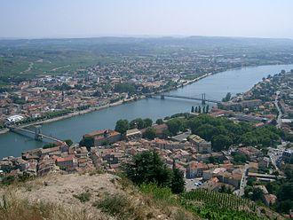 Tournon-sur-Rhône - A view across the river in Tournon-sur-Rhône