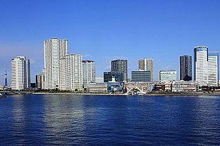 Toyosu town located in Koto-ku, Tokyo