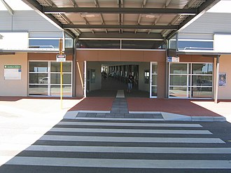 Cockburn Central railway station - Station entrance in December 2007