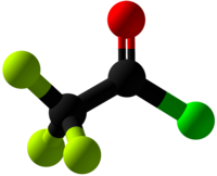 Trifluoroacetyl chloride Ball and Stick.png