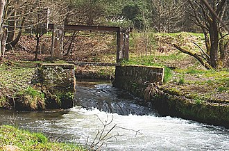 Wasgau - A former timber rafting weir on the Wieslauter at a splash dam north of Dahn