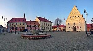 Trzcińsko-Zdrój - Market square with town hall