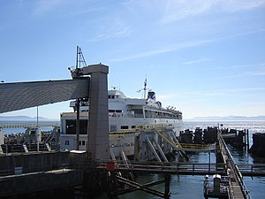 Tsawwassen Ferry Terminal - ''Queen of New Westminster'' at berth three, Tsawwassen Ferry Terminal