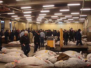 English: Tsukiji fish market