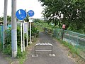 Tsurumi river cycling course - starting point.JPG