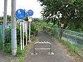 Tsurumi river cycling course - starting point.JPG