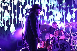Jeff Tweedy and Glenn Kotche Wilco at Susquehanna Bank Center XPoNential Music Festival 2012 Tweedy Kotche 2012.jpg