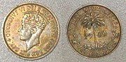 Due to the reach of the British Empire, the shilling was once used on every inhabited continent. This two-shilling piece was minted for British West Africa.