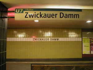 Zwickauer Damm (Berlin U-Bahn) - U-Bahn station Zwickauer Damm