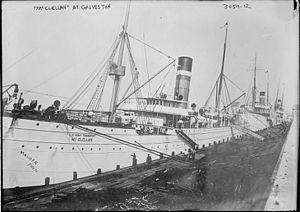 USAT McClellan - U.S. Army Transport McClellan at Galveston 1914.