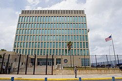 U.S. Flag Flaps Outside U.S. Embassy in Havana, Cuba (25998479275).jpg