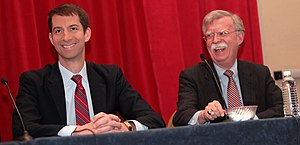Tom Cotton - Senator Cotton and former Ambassador to the U.N. John Bolton at the 2015 Conservative Political Action Conference (CPAC)