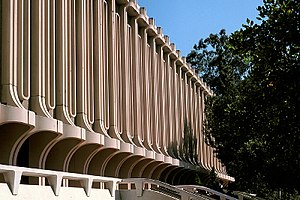 William Pereira - The library at University of California, Irvine, illustrating Pereira's paneled facade system