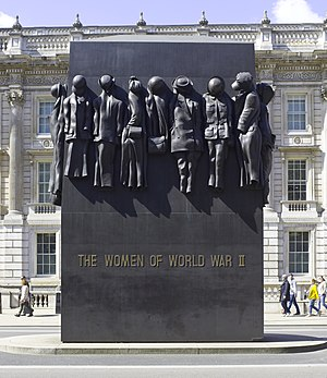 Monument to the Women of World War II - Image: UK 2014 London Monument to the Women of World War II (1)