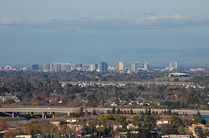 Downtown of San Jose, California, USA. View fr...