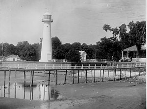 Biloxi Light - Coast Guard archive photo: October 1892