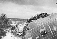 USS Cowpens (CVL-25) during Typhoon Cobra
