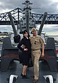 USS Massachusetts - US Naval Aviator and Navy WAVE.jpg