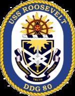 USS Roosevelt DDG-80 Crest