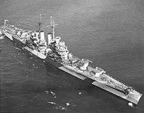 USS St. Louis (CL-49) off San Pedro, California (USA), on 5 October 1944 (19-N-72219).jpg