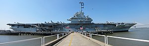 Patriots Point - Panoramic image of Yorktown at Patriots Point