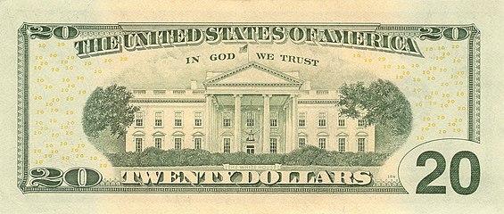 United States Twenty Dollar Bill Reverse Series 2006 With In We Trust Motto