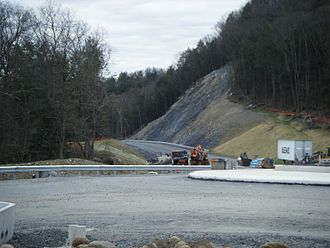 U.S. Route 209 - Marshalls Creek Bypass under construction