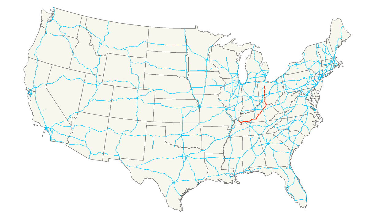 US Route Wikipedia - Us 68 map