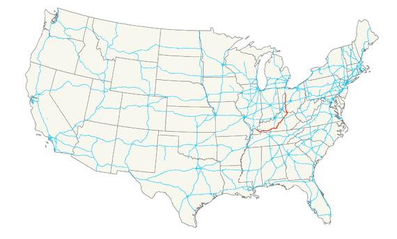 KentuckyRoadscom US Usa Map States Maryland Big With Usa - Us 68 map