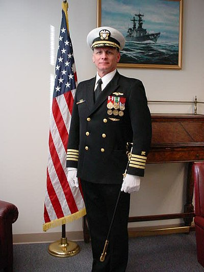 Navy chief dress blue ribbon placement