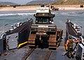 US Navy 050416-N-5517C-093 Seaman Anthony Denson assigned to amphibious assault ship USS Tarawa (LHA-1) observes Assault Craft Unit One (ACU-1).jpg