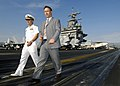 US Navy 050517-N-9742R-023 Croatian Minister of Defense, Berislav Roncevic tours the flight deck aboard the nuclear-powered aircraft carrier USS Enterprise (CVN 65) escorted by Enterprise Strike Group Commander,.jpg