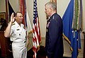US Navy 050812-F-6911G-003 Adm. Edmund P. Giambastiani, left, is administered the oath of office as Vice Chairman of the Joint Chiefs of Staff.jpg