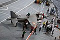 US Navy 070904-N-5242D-140 Sailors stationed aboard Indian Navy aircraft carrier INS Viraat (R 22) refuel a Sea Harrier after it returns from a mission during Malabar 2007.jpg