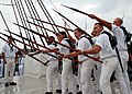 US Navy 080815-N-9793B-001 USS Constitution's boarding pike team demonstrates an early 19th century drill Sailors and Marines used to repel enemies from boarding the ship during the USS Constitution vs. HMS Guerriere Battle Com.jpg