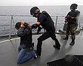 US Navy 080816-N-7643B-002 A maritime interdiction team assigned to the Ecuadorian corvette BAE El Oro (CM 14) conduct a visit, board, search and seizure exercise.jpg