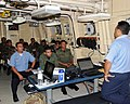 US Navy 081216-N-9995B-003 Engineman 1st Class Gabino Ramirez provides classroom instruction on small boat maintenance to Panamanian sailors during a Southern Partnership Station training session.jpg
