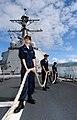 US Navy 090112-N-0879R-003 Sailors aboard USS Chafee (DDG 90) stow a mooring line.jpg