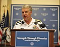 US Navy 090727-N-8273J-066 Chief of Naval Operations (CNO) Adm. Gary Roughead, delivers remarks during a ceremony honoring the service of Vice Adm. Gravely, the first African American officer in the Navy.jpg