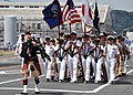 US Navy 090911-N-2013O-094 Bagpiper Francis Hunter leads chief petty officers assigned to Commander, Fleet Activities Yokosuka during a 9-11 memorial parade.jpg