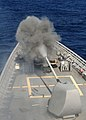 US Navy 101027-N-3374C-242 he guided-missile cruiser USS Gettysburg (CG 64) fires its forward 5-inch Mark 45-54-caliber lightweight gun at the ex-U.jpg