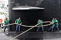 US Navy 110908-N-JH293-126 Sonar Technician (Submarine) 2nd Class Jeff Wiesmaier, left, Chief Fire Control Technician Johnathan Taylor,.jpg