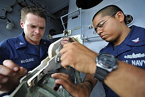 US Navy 111228-N-KS651-068 Sailors prepare a fueling station.jpg