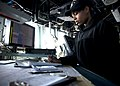 US Navy 120131-N-NL401-194 Quartermaster Seaman Adriana M. Scott plots the ship's position.jpg