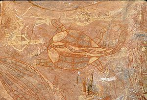 Ubirr - Rock painting at Ubirr